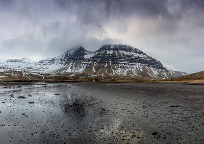Photograph - kirkjufellsfoss From Black Beach by Glen Sumner