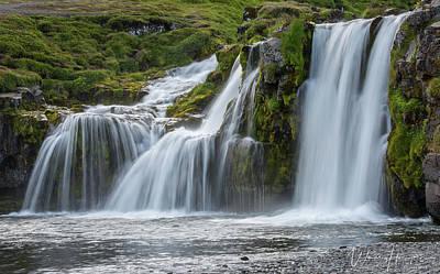 Photograph - Kirkjufellsfoss, Iceland - 3485,s by Wally Hampton