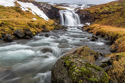 Photograph - Kirkjufellsfoss Sibling  by Glen Sumner