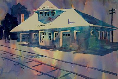 Kirkwood Train Station Missouri Art Print