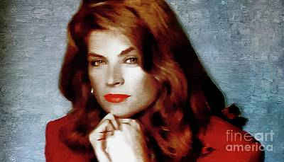 Painting - Kirstie Alley - Actress by Ian Gledhill
