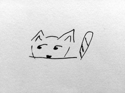 Drawing - Kishi The Cat by Alohi Fujimoto