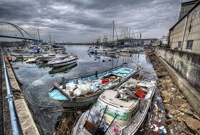 Photograph - Kishiwada Waterfront by Wayne Sherriff