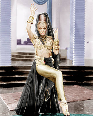 Gold Lame Photograph - Kismet, Marlene Dietrich, 1944 by Everett