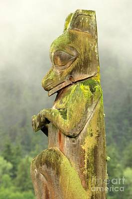 Photograph - Kispiox Totem by Frank Townsley