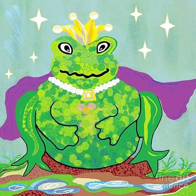 Kiss A Frog Art Print