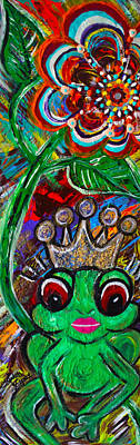 Painting - Kiss A Queen Frog  by Artista Elisabet
