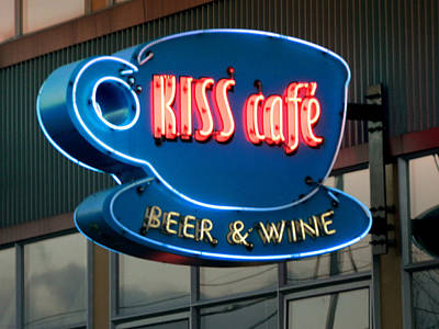 Photograph - Kiss Cafe by Kathleen Grace