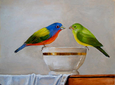 Maureen Painting - Kiss Her by Maureen Piccirillo