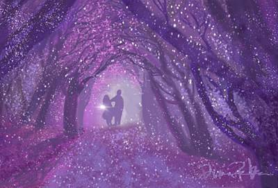 Digital Art - Kiss In The Woods by Diana Riukas