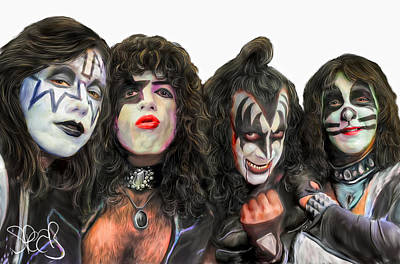 The Kiss Painting - Kiss by Mark Spears