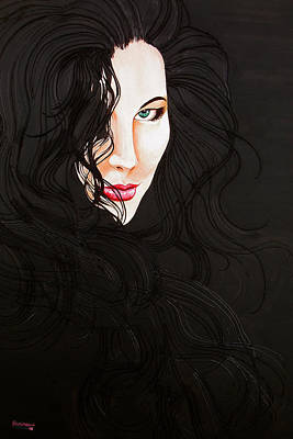 Kiss Me Art Print by Juan Alcantara