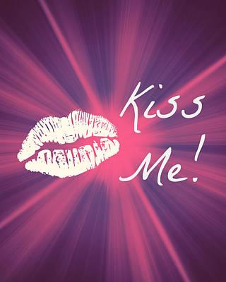 Digital Art - Kiss Me Starburst by KayeCee Spain