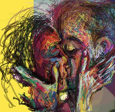 Good Luck Digital Art - Kiss Me You Big Dick by James Thomas