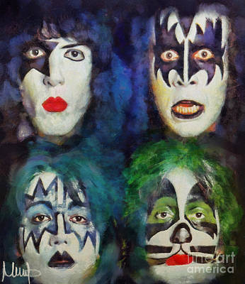 Kiss Art Print by Melanie D