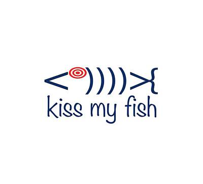Photograph - Kiss My Fish by Bill Owen