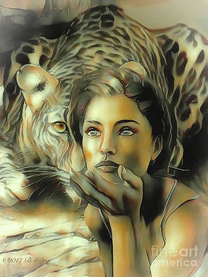 Mixed Media - Kiss Of The Leopard Woman by Barbara Milton