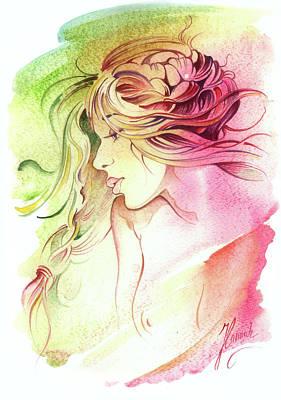 Painting - Kiss Of Wind by Anna Ewa Miarczynska
