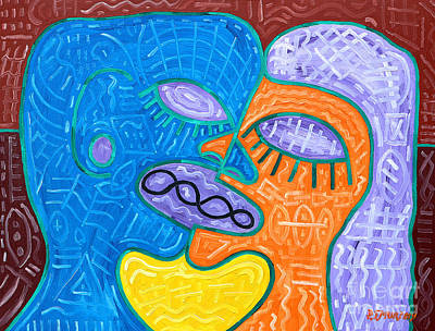 Kiss Art Print by Patrick J Murphy