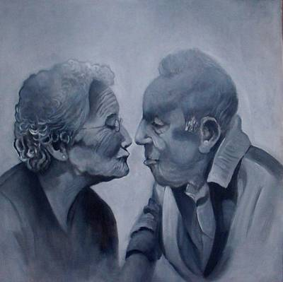 Painting - Kiss by Paul Weerasekera