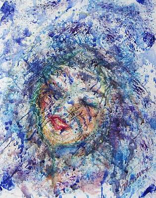 Kiss The Rain Art Print by Cathy Minerva