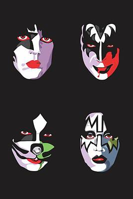 Detroit Legends Digital Art - Kiss by Troy Arthur Graphics