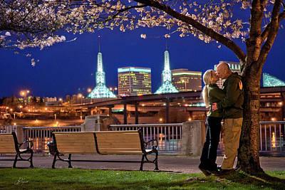 Photograph - Kiss Under The Cherry Tree by Lori Grimmett