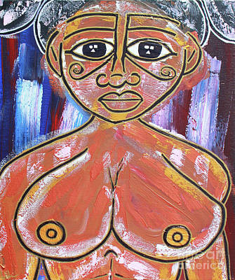 Painting - Kissed By The Sun by Odalo Wasikhongo
