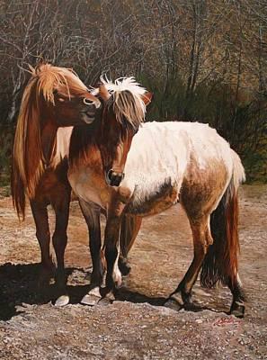 Icelandic Horse Painting - Kissemmee - Icelandic Horses by Susie Gordon