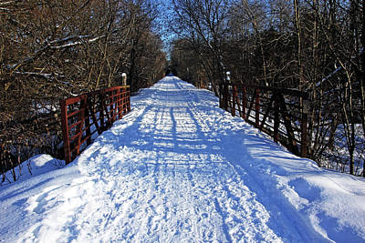 Photograph - Kissing Bridge Trail by Debbie Oppermann