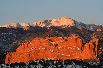 Photograph - Kissing Camels And Pikes Peak by Margarethe Binkley