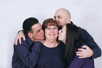 Photograph - Kissing Mom by Greg Fortier