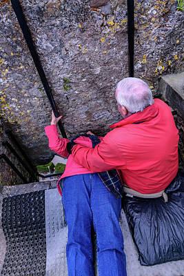 Kissing The Blarney Stone - Blarney Ireland Art Print