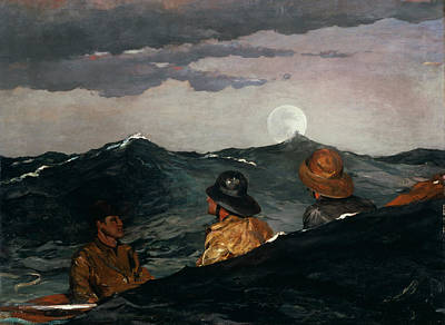 Kiss Painting - Kissing The Moon by Winslow Homer