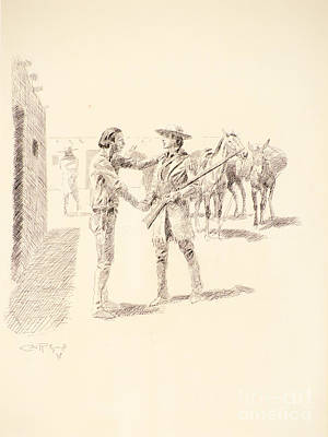 Kit Painting - Kit Carson's Farewell by Celestial Images