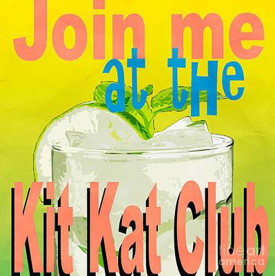 Kit Kat Club Square Art Print by Edward Fielding