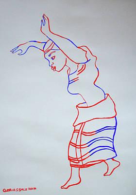 Painting - Kitaguriro Dance Ankole Uganda by Gloria Ssali