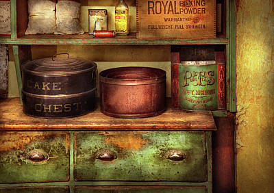 Kitchen - Food - The Cake Chest Art Print by Mike Savad