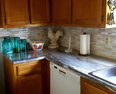 Photograph - Kitchen 1 - Back Splash And Counter Top by Greg Jackson