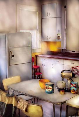 Kitchen - A 1960's Kitchen  Art Print by Mike Savad
