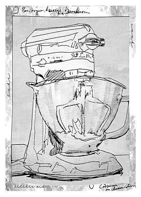 Kitchen Aid Art Print by Barbara Andolsek