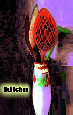 Digital Art - Kitchen Art 5 by Miss Pet Sitter