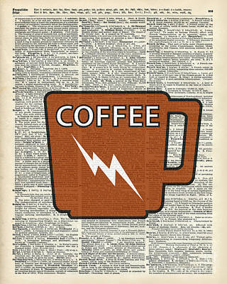 Kitchen Art - Power Coffee Art Print