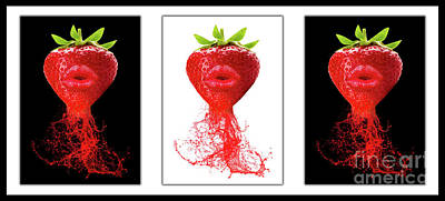 Strawberry Digital Art - Kitchen Art by Prar Kulasekara