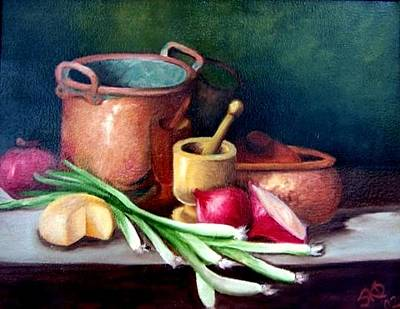 Painting - Kitchen Copper  Sold by Susan Dehlinger