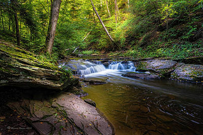 Ricketts Glen Photograph - Kitchen Creek by Marvin Spates