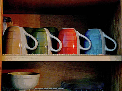 Photograph - Kitchen Cupboard  by Margie Avellino