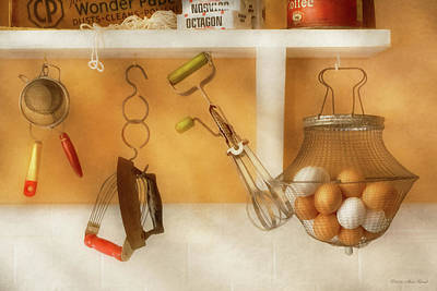 Photograph - Kitchen - Eggs - Something You Can Beat by Mike Savad