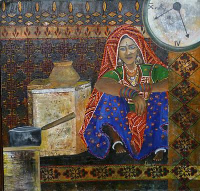 Kitchen Flower Art Print by Fehmida Haider