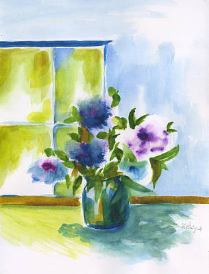 Painting - Kitchen Flowers by Frank Bright